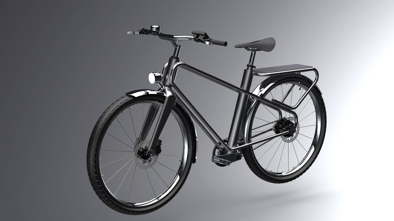 My new concept of an inexpensive city e-bike looks like a regular bike