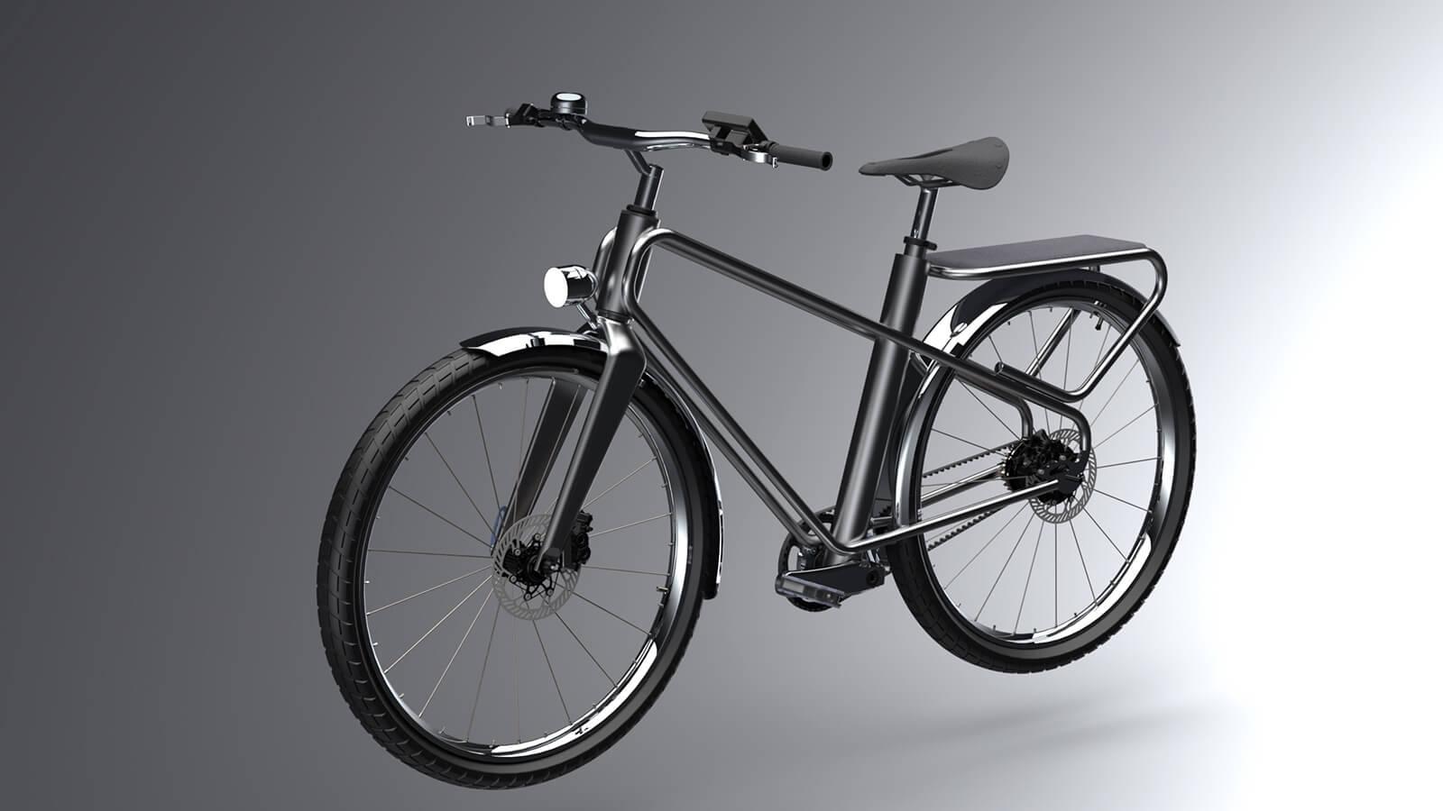 My new concept of an inexpensive city e-bike looks like a regular bike