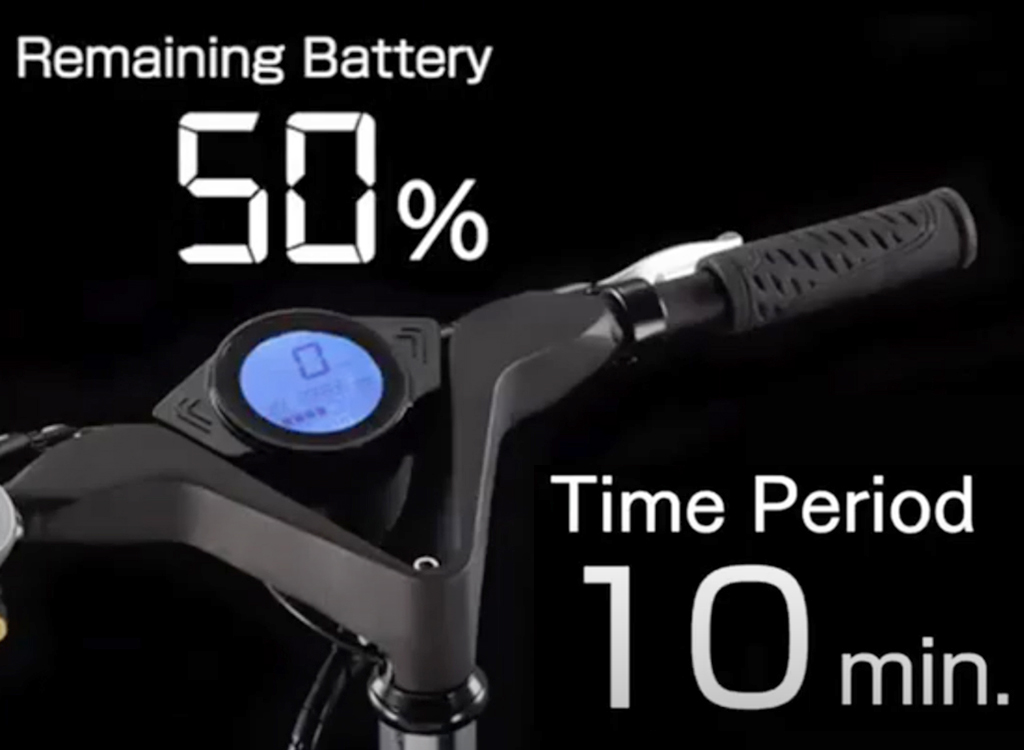 All-Purpose e-Bike batteries may be charged in 20 min