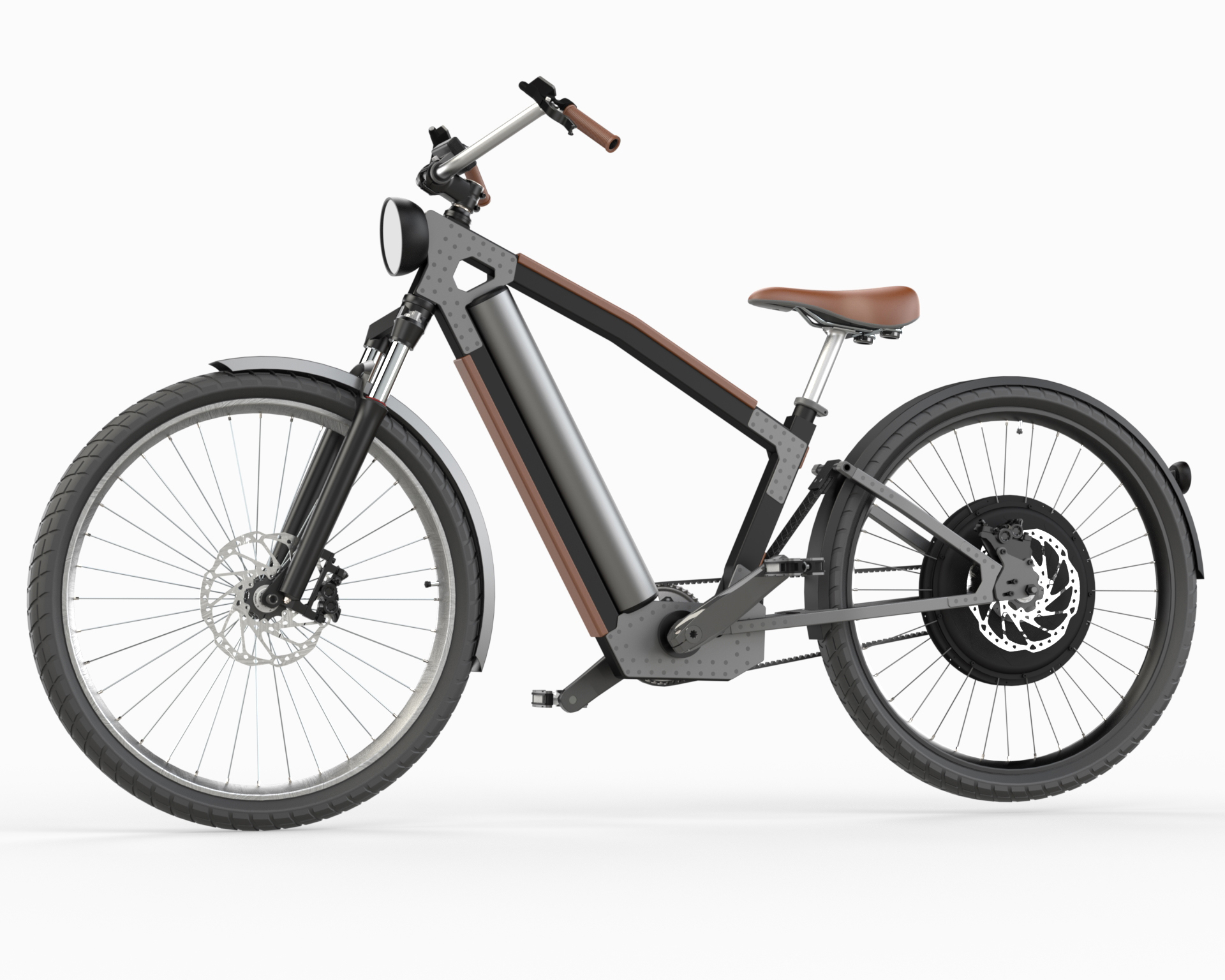 My new full suspension Cruiser e-bike 250-1000W concept